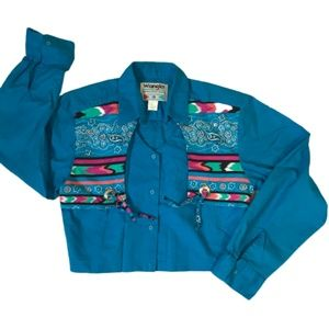 Vintage Wrangler Western Southwestern Shirt Sz M